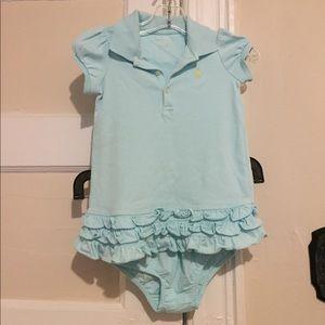Ralph Lauren Aqua Blue Dress w/ Matching Bottom